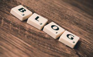 Blog letters scrabble