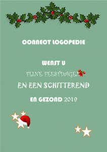 Fijne feestdagen 2019 Connect logopediepraktijk Zwolle Hardenberg Dedemsvaart