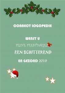 Fijne feestdagen 2019 Connect logopedie