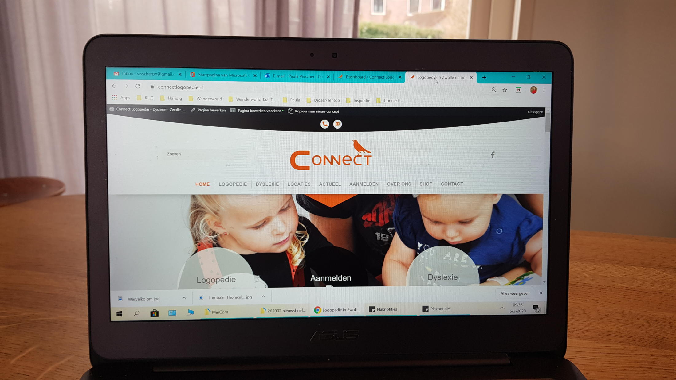 nieuwe website Connect logopedie