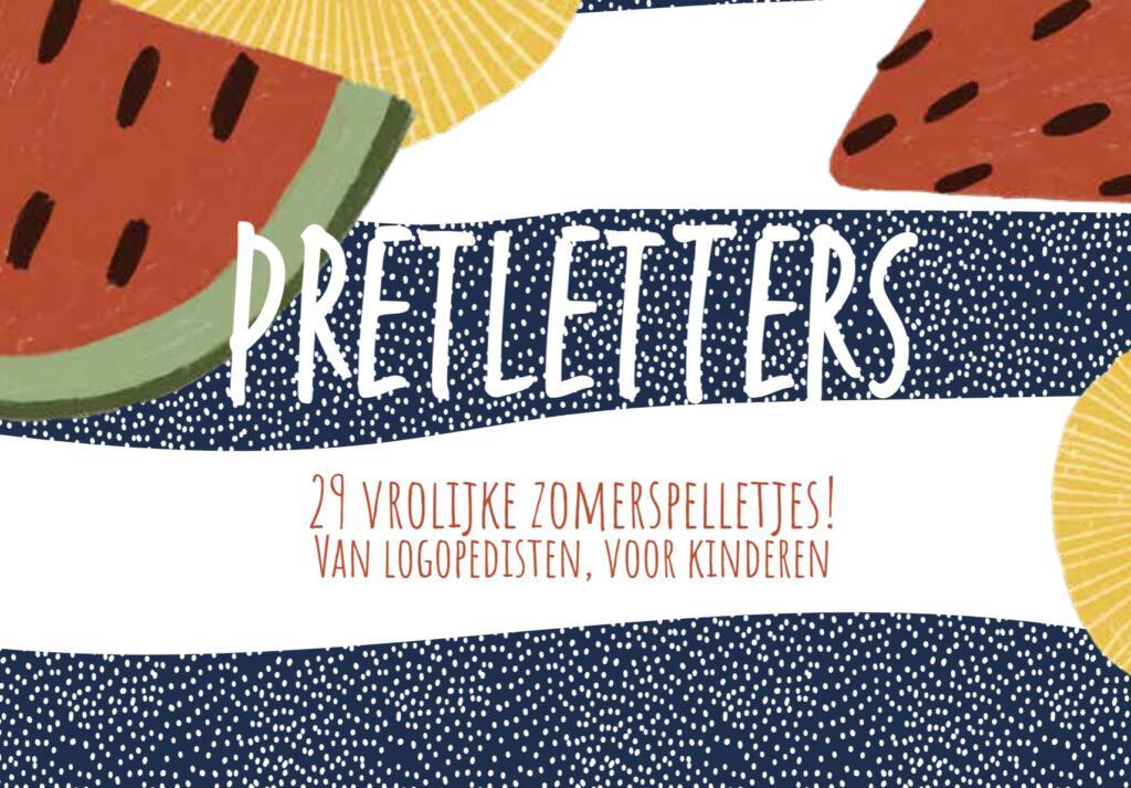 Pretletters het e-book met 29 vrolijke zomerspelletjes