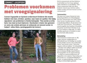 Connect prelogopedie in de media, Stadshagen Magazine en Ommen Hardenberg Magazine vroegsignalering en prelogopedie