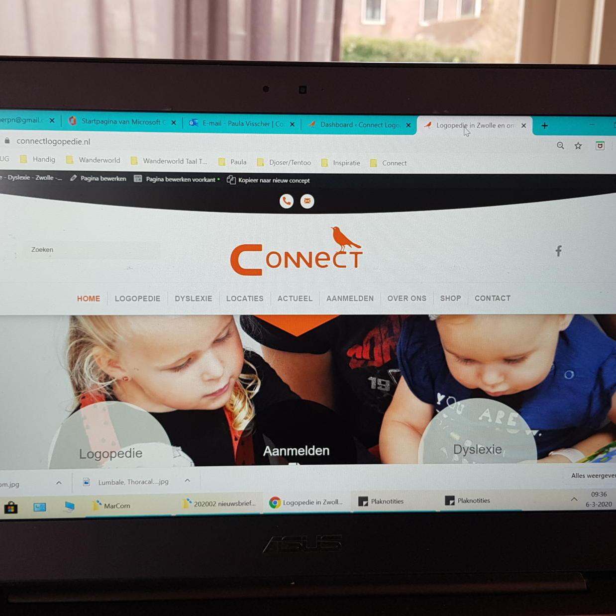 nieuwe website Connect logopedie